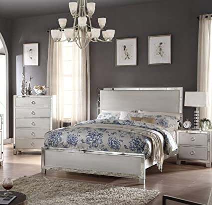 Superieur ACME U0026quot;Voevilleu0026quot; Platinum Mirrored Bedroom Set ...