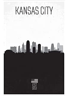 """Dallas Skyline 36/"""" x 24/"""" Matte Paper Print Touch Of Color Poster"""