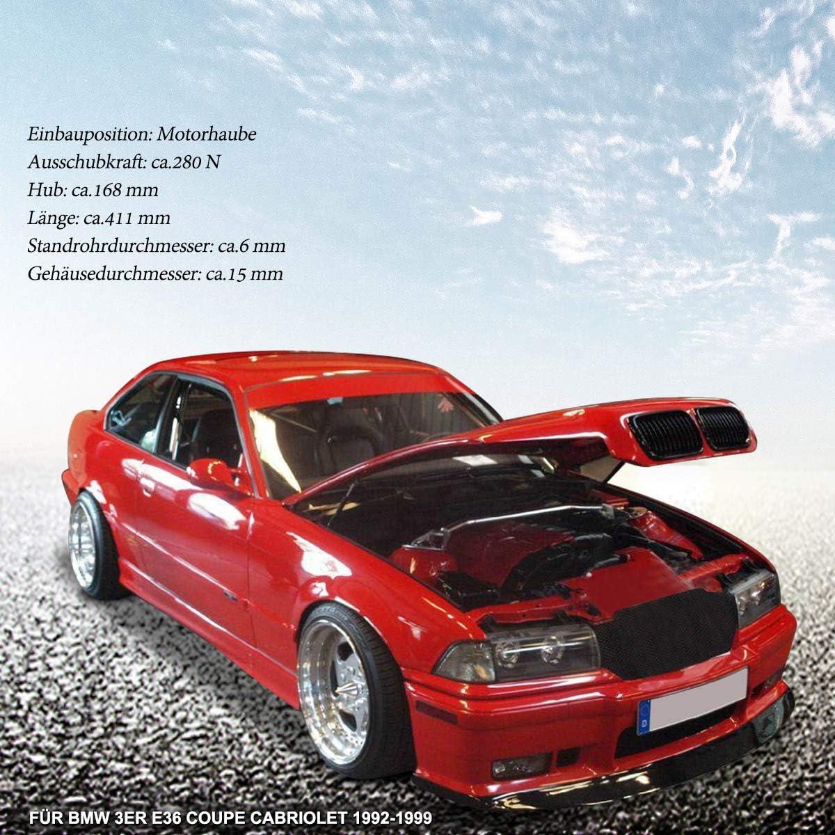 1996-2004 2x Gasfeder Motorhaube Motorhaubendämpfer E39 BMW 5er