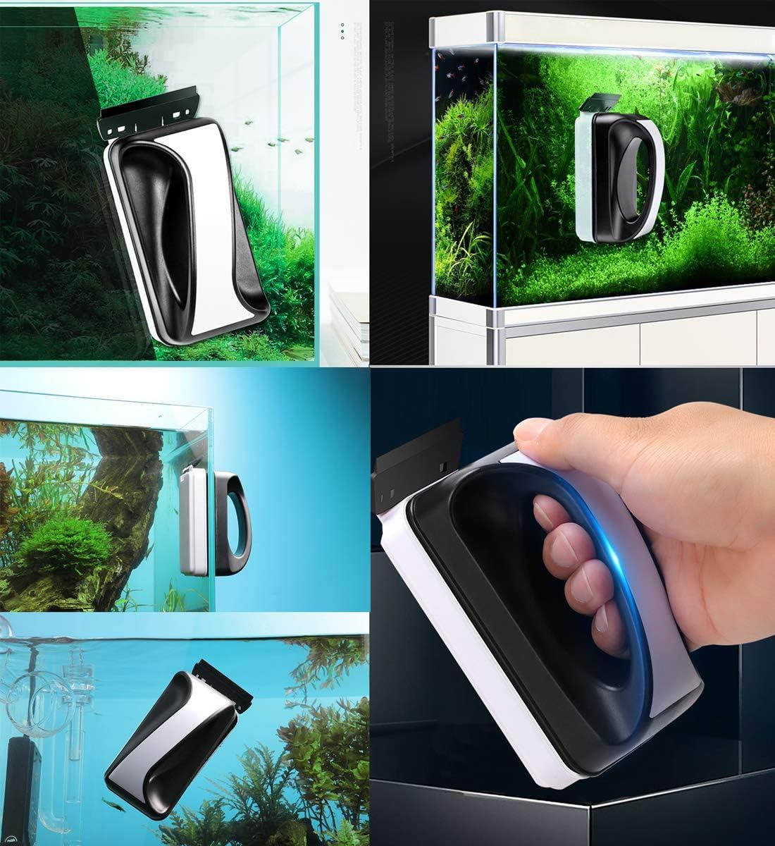 wecan Magnetic Fishbowl Glass Cleaner Floating Cleaning Brush Acrylic Safe Algae Scraper Medium Size