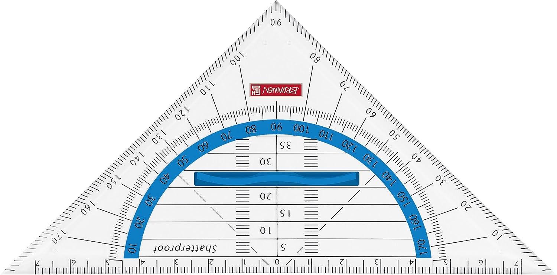 Fontana Geometria del triangolo//Geodreieck per Scuola e Ufficio 16/cm Colour Code 16 centimetri gr/ün//kiwi