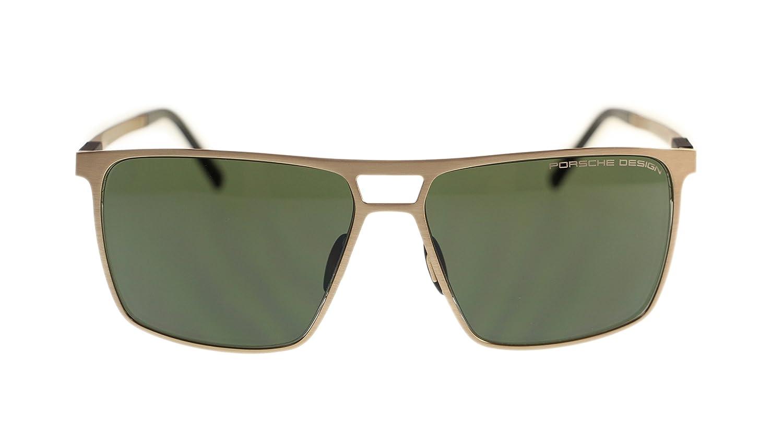 ebcaed42f4 Porsche Design Men s Sunglasses P8610 D Light Gold With Green Lens 59mm   Amazon.co.uk  Clothing