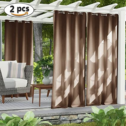 nicetown outdoor curtain panel for patio home decorations thermal insulated grommet top blackout indoor outdoor - Outdoor Curtains For Patio