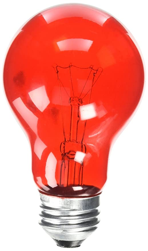 Westinghouse 0344600 25 Watt 120 Volt Trans Red Incandescent A19