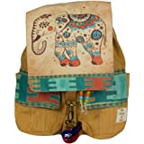 The House Of Tara Canvas Printed Flaps Backpack (Desert Sand)