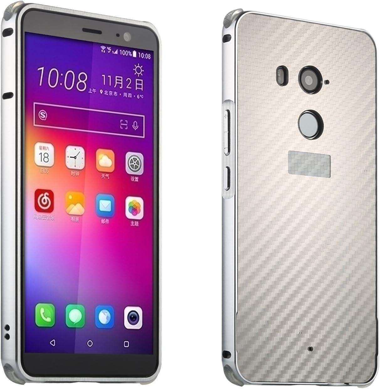 SPAK HTC U11 Plus Funda,Calidad Aluminio Parachoques + Fibra de ...