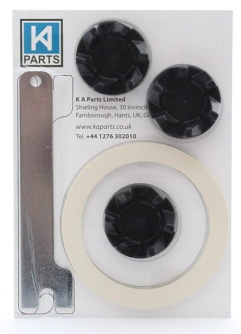 3 x Acoplador de goma para batidora KitchenAid con llave para ayudar a retirarlo y junta para la unidad de cuchillas