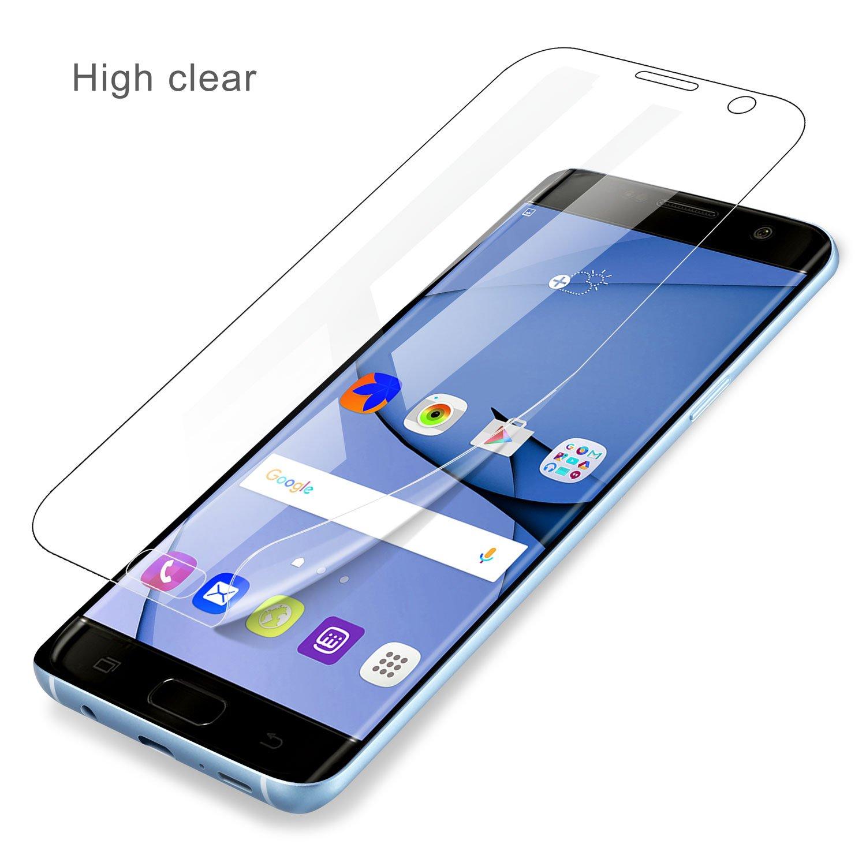 2 Pack Leathlux Hydrogel Pellicola Protettiva Non di Vetro Temperato No-Bolla Anti-graffio Protector Film per Samsung Galaxy S7 Edge Pellicola Protettiva Samung Galaxy S7 Edge