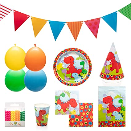 Amazon.com: Little Dinosaur Party Supplies Set para 12 ...