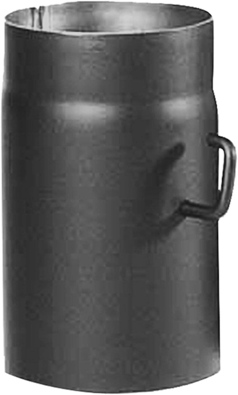 Kamino-Flam Tubo con Válvula para Chimenea, Metal, Gris, 12x3x25 cm, 1 unidad