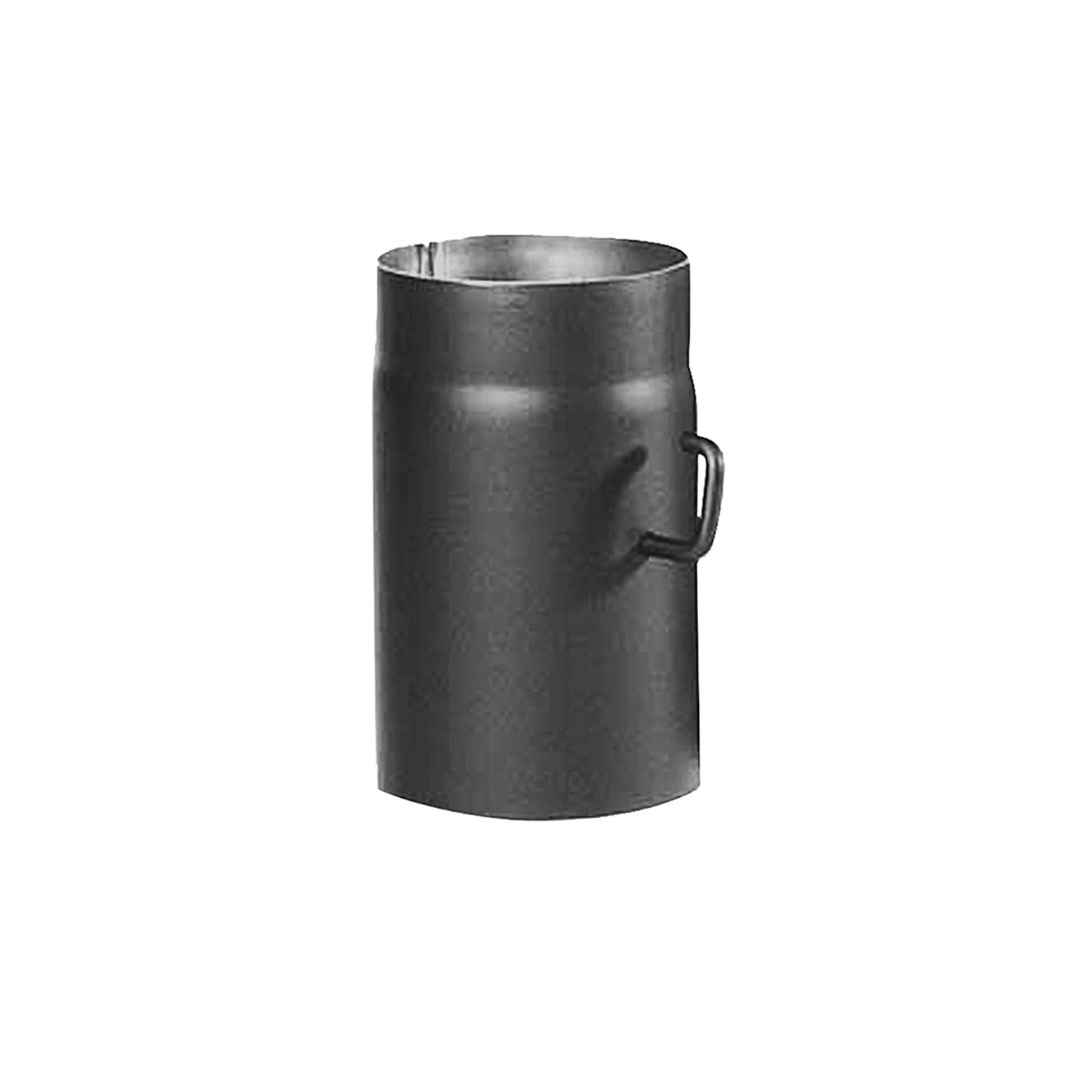 Kamino - Flam Ø 120 mm Stove Pipe with Throttle, approx. 250 mm Straight Length Flue Pipe with Damper, Steel Stove Pipe Extension with with Throttle Flap, Heat Resistant Senotherm Coating, Grey 331726