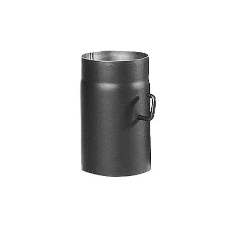 Kamino-Flam Tubo con Válvula para Chimenea, Metal, Gris, 12x3x25 cm 2