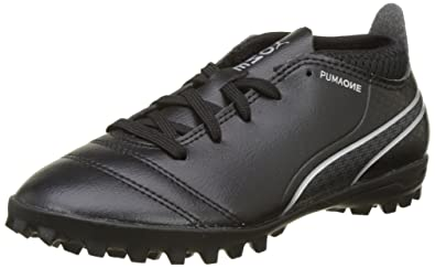 9fa247291 Puma One 17.4 TT Astro Turf Junior Football Trainers - Black, Black (Black-