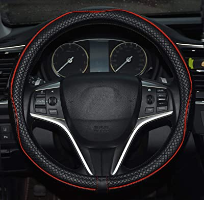 Rueesh Microfiber Leather Car Steering Wheel Cover