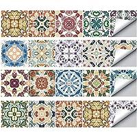 TONGXU 20PCS Autoadhesivo Azulejos Decorativos DIY Etiqueta del