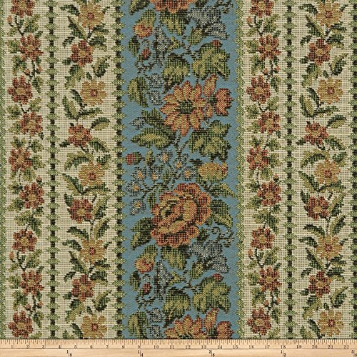 - Fabricut Upper Garden Mt Vernon Collection Italian Made Tapestry Upholstery Fabric in Potomac