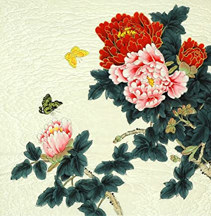 38eb124bb Image Unavailable. Image not available for. Color: Peony - Original Chinese  Flower Artwork - Traditional Oriental ...