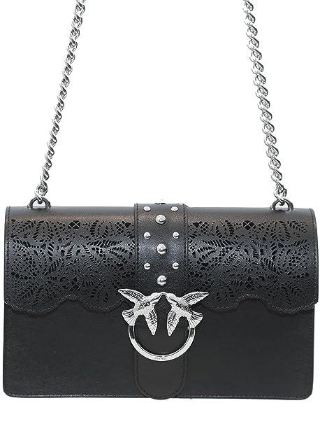 Borsa Donna PINKO LOVE MACRAME Love bag grande Primavera Estate 2018 Nero  UNI  Amazon.it  Abbigliamento b7b3d1a5bc5