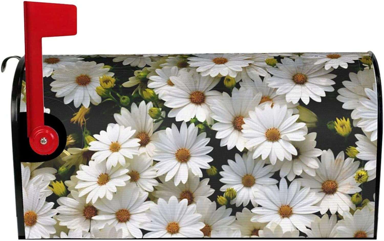 YX-Handsome Mailbox Cover Magnetic Daisy Flower Mailbox Wraps Post Letter Box Covers Garden Yard Home Decor Standard Size 18