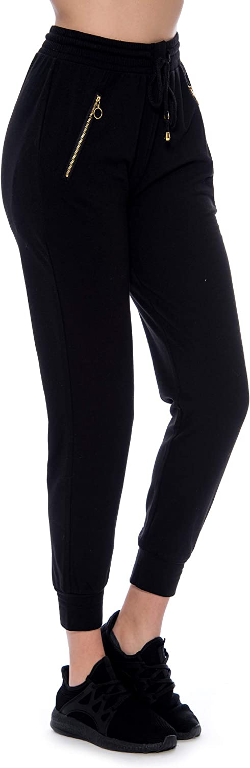 Indero Jogger's Relaxed Fit Fleece Style with Side Pocket O-Ring Gold Zipper (Available in Sizes S/M or L/XL)