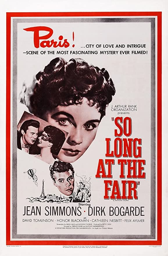 So Long at The Fair Us Poster Art Dirk Bogarde Jean Simmons 1950 Movie  Poster Masterprint (24 x 36): Amazon.ca: Home & Kitchen