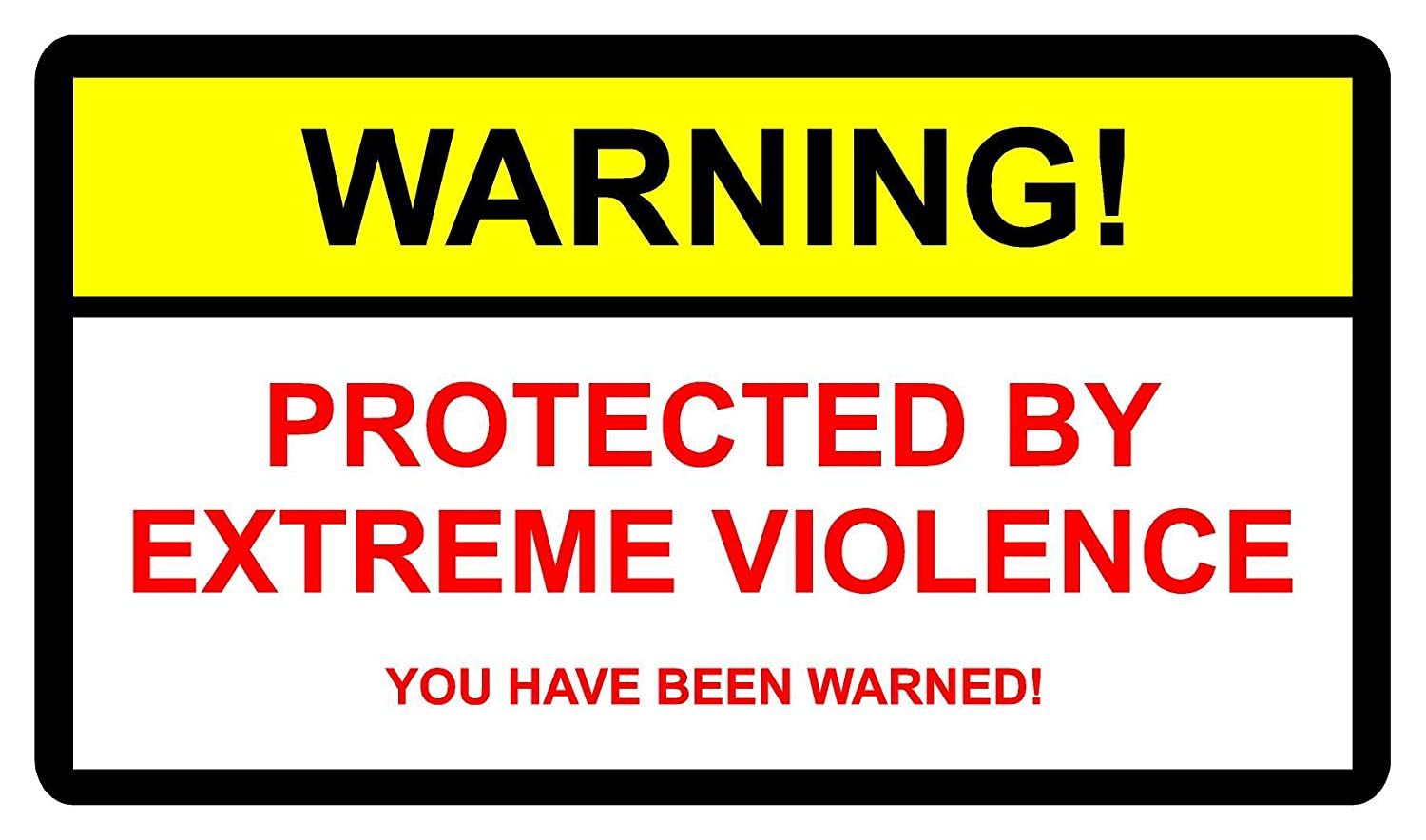 STICKER PROTECTED BY EXTREME VIOLENCE OUTLAW ANGELS 666 HELLS BIKER 8 1 150mm x 100mm KPCM Display