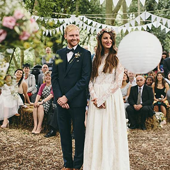 Ekena Millwork CM11ACAGF Candy Bar Hessian Burlap Bunting Wedding or Party Decoration Banner