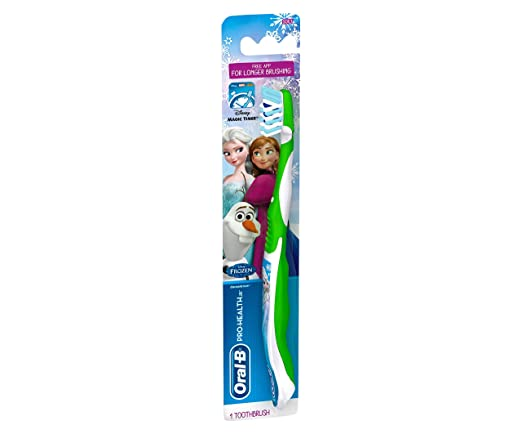 Oral-B Pro-Health For Me CrossAction Soft, Disney Frozen Manual Kids Toothbrush, Pack of 6