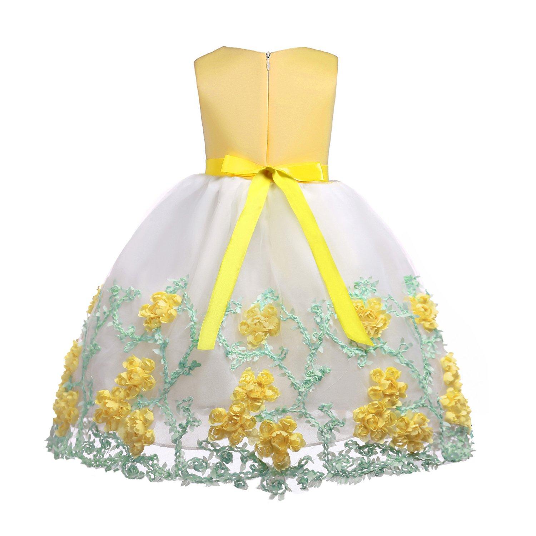 6a521a109095 Ankoee Niña Flor Princesa Vestido de Fiesta de Cumpleaños de la Boda 3-10  años: Amazon.es: Ropa y accesorios