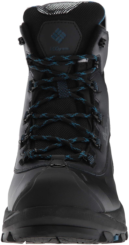 Columbia Mens Bugaboot Plus IV Omni-Heat Wide Mid Calf Boot Black 9 Wide US 1791202 Phoenix Blue