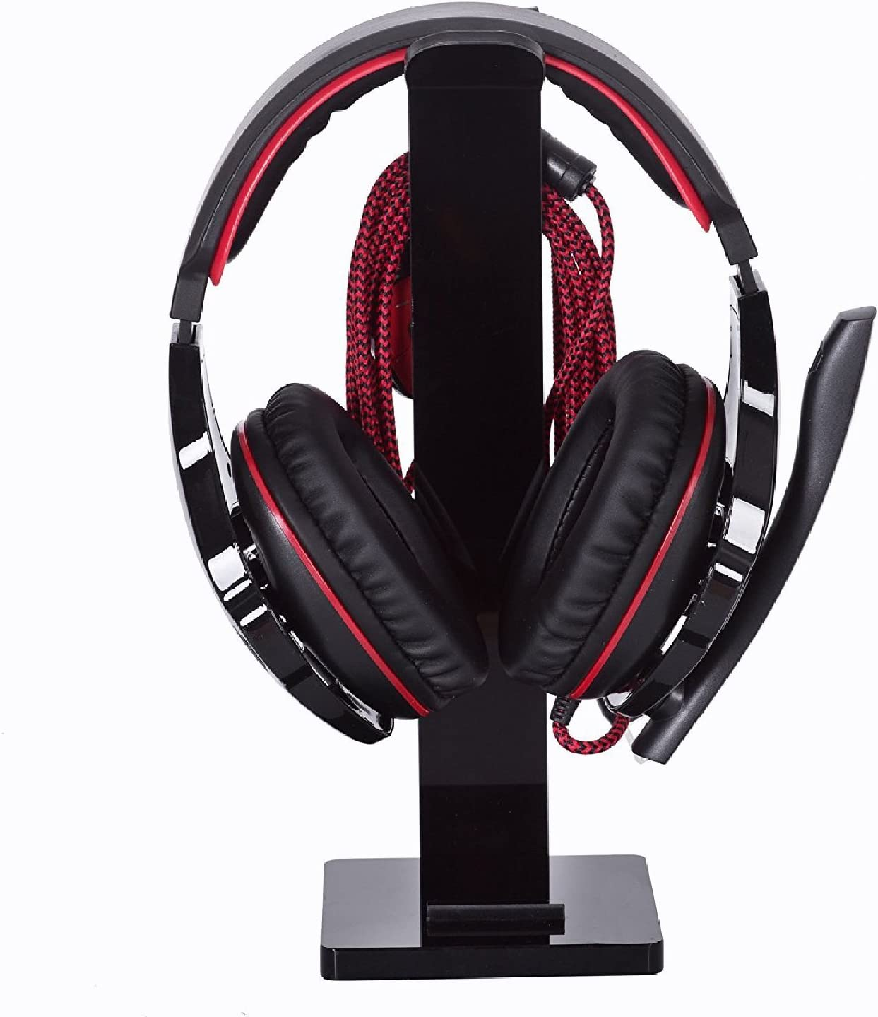 Black Geekdigg Gaming Headset Headphone Stand Holder with Cable Organizer /& Cellphone Stand