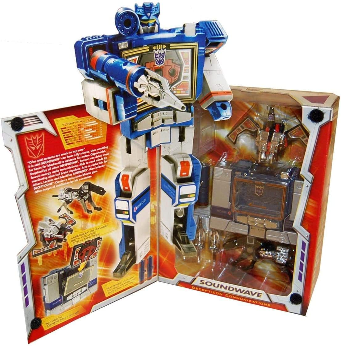 Transformers G1 Re-issue Deception Soundwave Action Figures No Buzzsaw In Box