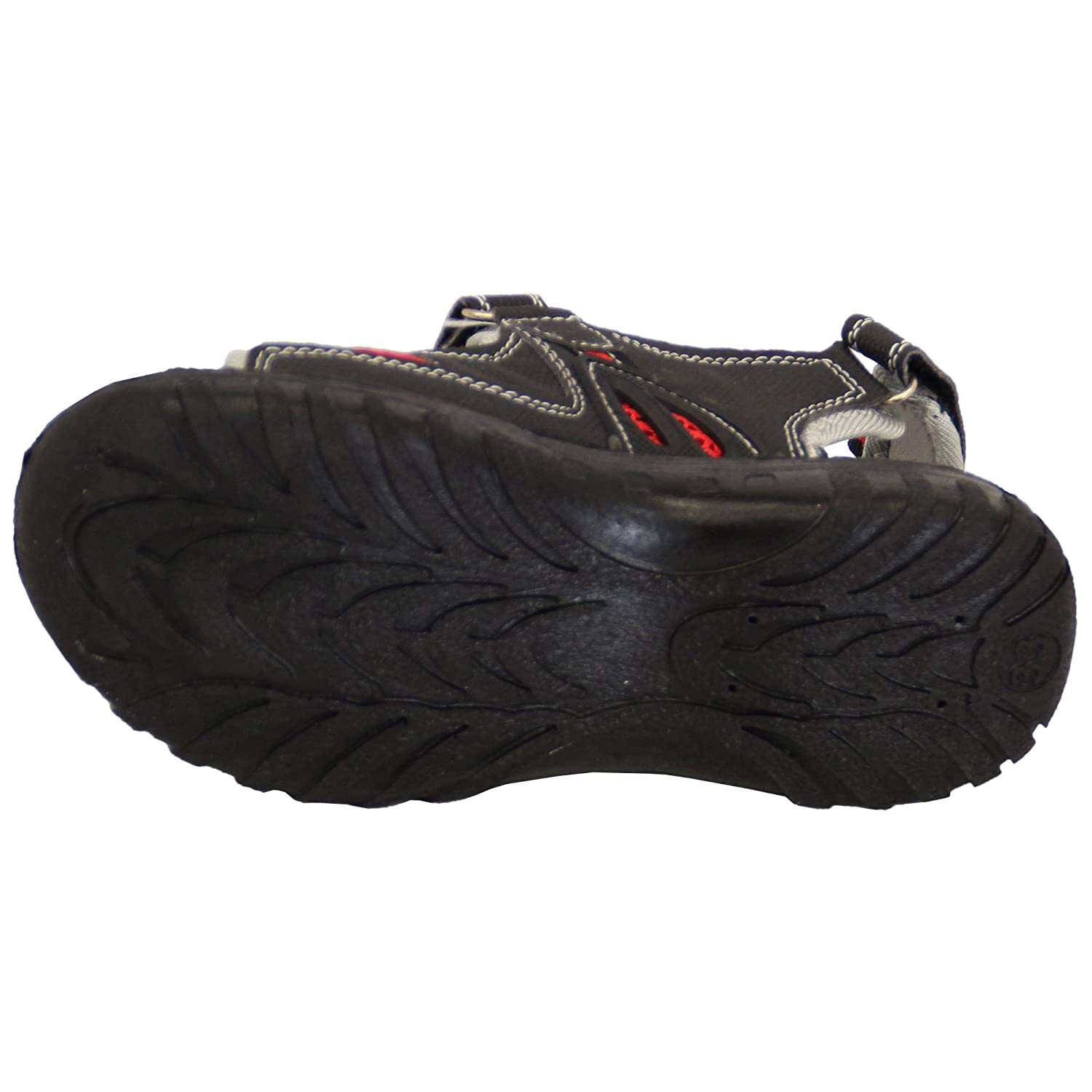 f9ded4f6e53 Gezer Boys Sandals Troy Black UK 2.5 EU 35  Amazon.co.uk  Shoes   Bags