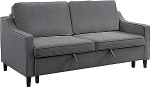 Lexicon Convertible Studio Sofa Bed, Gray