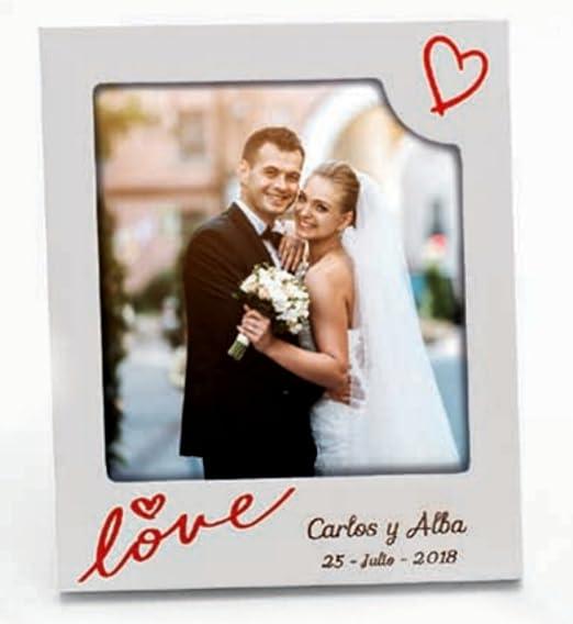 Portafotos PERSONALIZADOS para invitados boda marcos pequeños ...