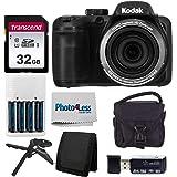 Kodak PIXPRO AZ401 Astro Zoom 16MP Digital Camera (Black) + Point & Shoot Camera Case + Transcend 32GB SD Memory Card…