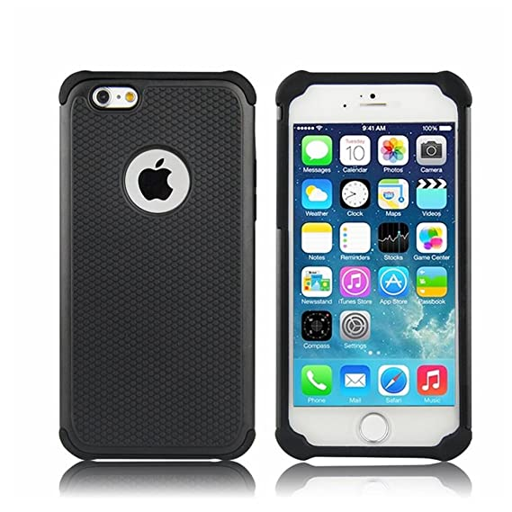 buy popular 30011 52dce iPhone 6 Case,iPhone 6S Case,GOGING Impact Resistant Double Layer  Shockproof Hard Shell Case Compatible for Apple iPhone 6/6S 4.7 inch (Black)