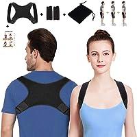 SETH - Posture Corrector for Men and Women-Back Stretcher|Upper Back Brace Clavicle Support Device for Thoracic Kyphosis and Shoulder-Neck Pain Relief-Adjustable Brace-Posture Support - FDA Approved