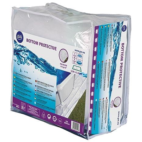 Gre MPROV500 - Manta Protectora para Piscina Elevada Ovalada de 500 x 300 cm, Color