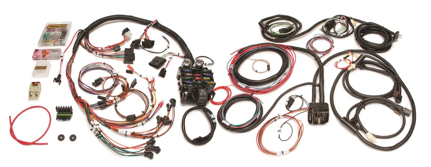 painless performance 10150 direct fit jeep cj harness (1976 1986) 21 circuits 10150 Painless Wiring Harness