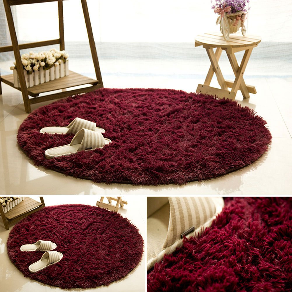 Fluffy Rugs Anti-Skid Shaggy Area Rug FUT Oval Childrens Place Mats Multi Colors Carpets Baby Child Kids Playing Floor Mats Best for Dining Room Home Bedroom Decoration