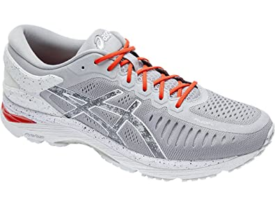 Women's Asics Meta Run Road Running Shoes, Concrete Grey/Shu Red/Hazy White