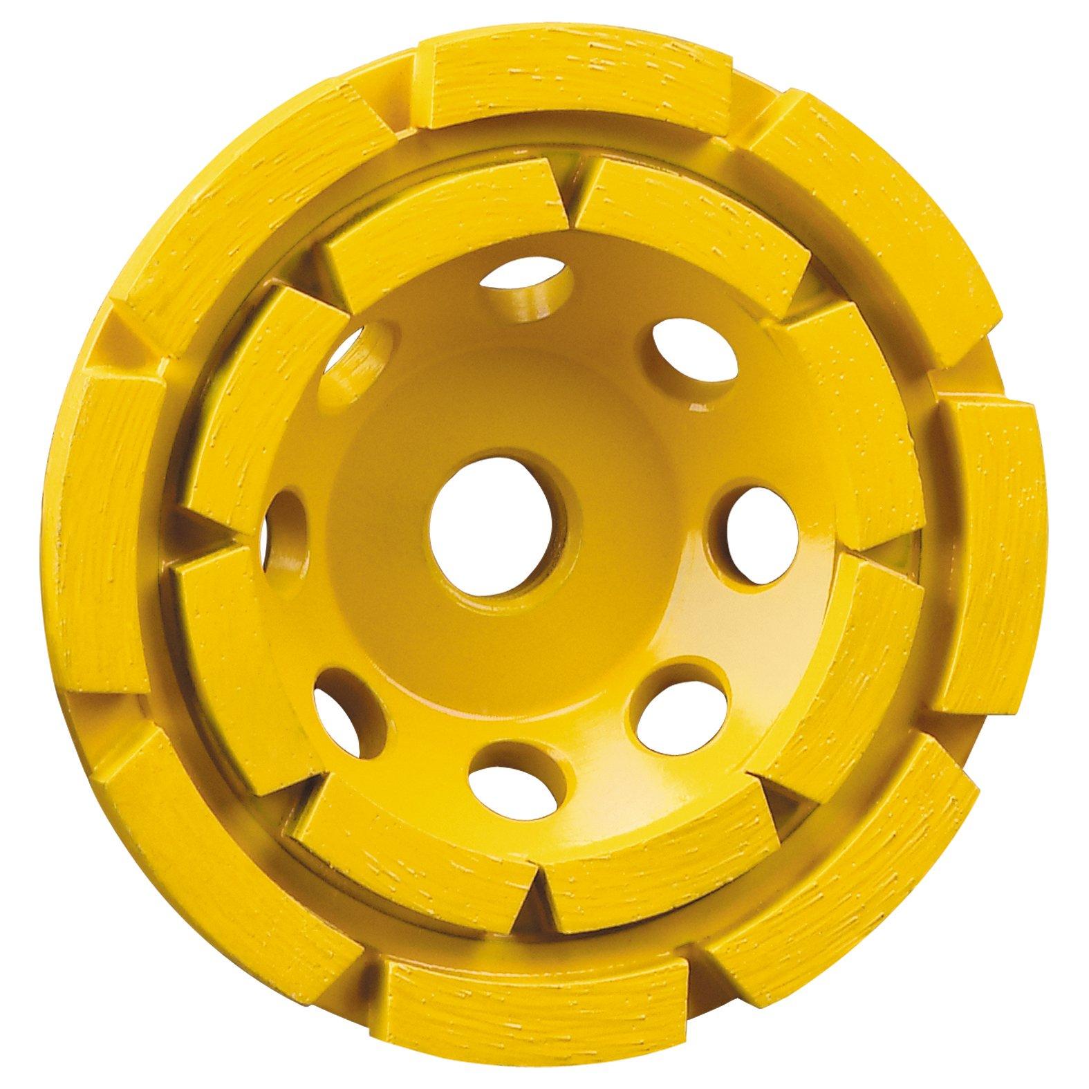 DEWALT Grinding Wheel, Double Row, Diamond Cup, 4-1/2-Inch (DW4774) by DEWALT