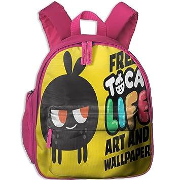 71M6NOAh dL._SY355_ amazon com toca boca art free trendy kids' backpacks little kid