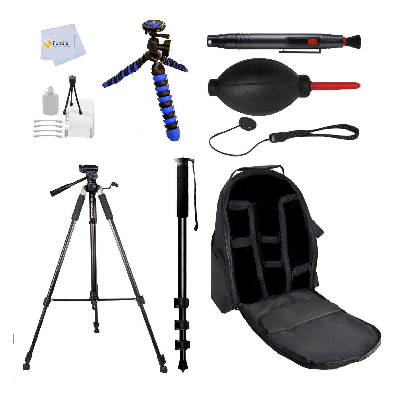 Accessory Kit for Olympus O-MD E-M1, E-M10, E-M10 Mark II, E-M5, E-M5 Mark II, PEN E-P1, E-P2, E-P3, E-P5, E-PL1, E-PL1s, E-PL2, E-PL3, E-PL5, E-PL6, E-PL7, E-PM1, E-PM2 DSLR Cameras Includes: 72' Tripod + 72' Monopod + Flexible Gripster Tripod + Starter K