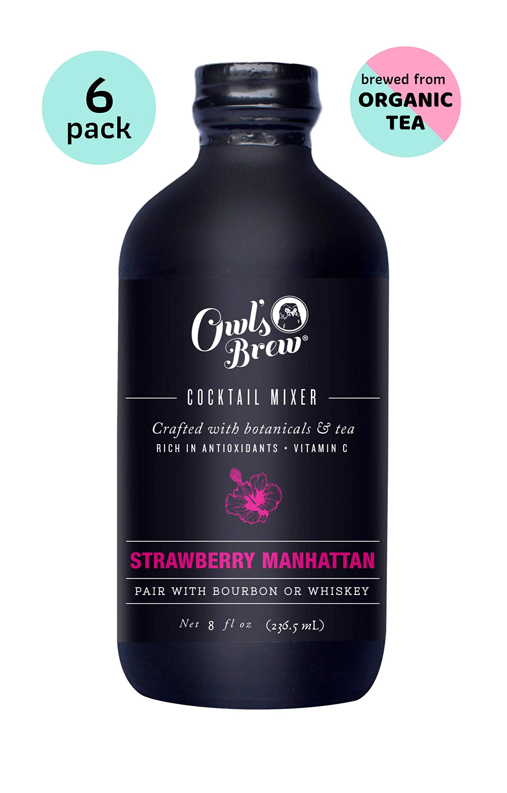 Owl's Brew Strawberry Manhattan Cocktail Mixer, 8 Ounce Bottle (Pack of 6) by OWL'S BREW