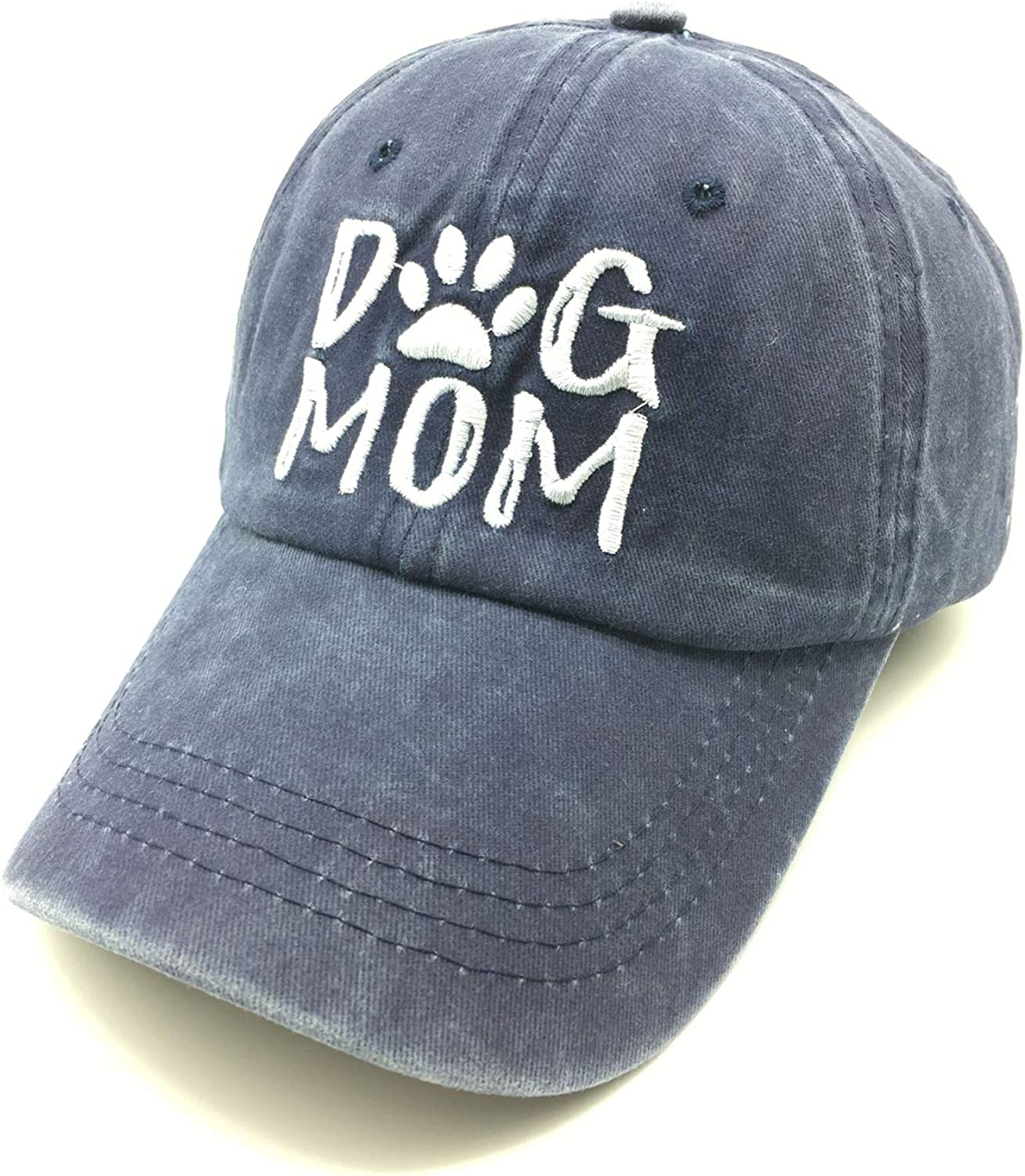 Waldeal Women's Dog Mom Baseball Caps Embroideried Washed Adjustable Dad Hat