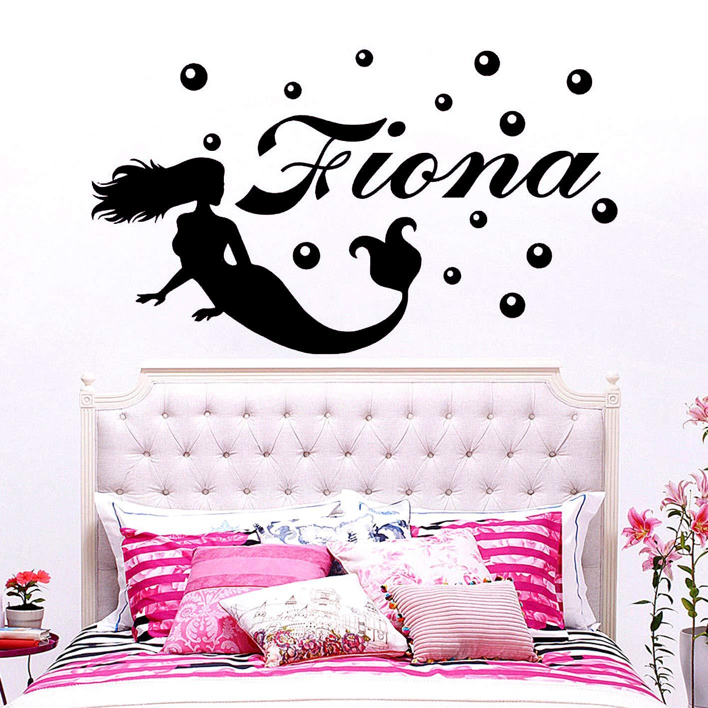 Vinilo Tatuajes de pared Hermosa Sirena linda de dibujos animados ...