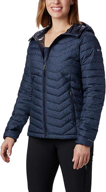TALLA S. Columbia Powder Lite Chaqueta con capucha para mujer Mujer