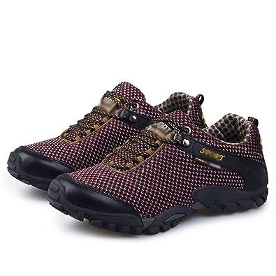 Amazon.com | Smakke Men Hiking Shoes Breathable Mesh Outdoor Climbing Shoes Sneakers Treking Camping Shoes | Hiking Shoes